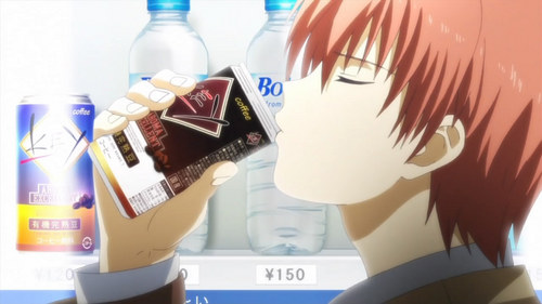 How many Key branded coffees does Otonashi use in episode 3?
