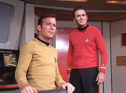 Scotty was present when Kirk disappeared aboard the Enterprise B in étoile, star Trek: Generations.