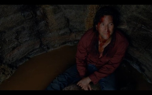 Who threw Desmond down a well on Lost?