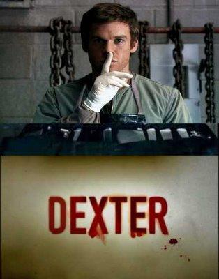 Dexter is a serial killer door night, what is his dag time work profession?
