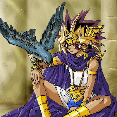 In the Manga who does Atem first give a penalty game?