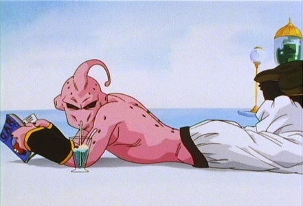 What drink is Super Buu drinking in this picture?