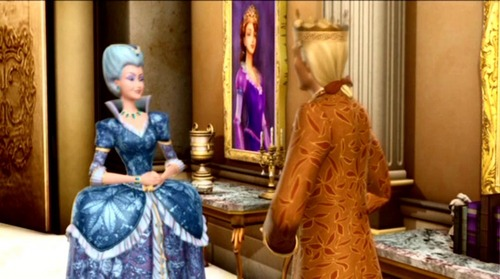 Why does the king bring Rowena to the palace?