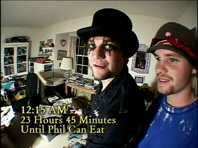 In 'Don't Feed Phil', which was NOT something that Bam & Raab found in Phil's office?