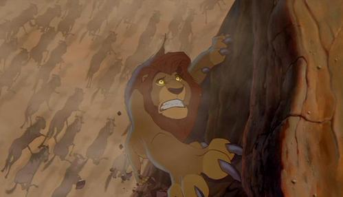 What is Mufasa's last line before he dies?