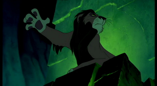 What does Scar offer the Hyenas as food?
