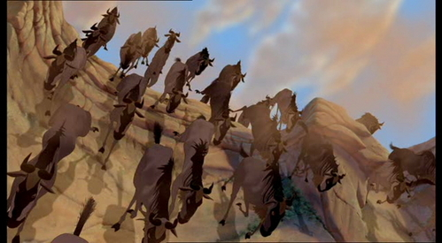 How long did it take the animators to complete the &#34;Stampede Scene&#34;?
