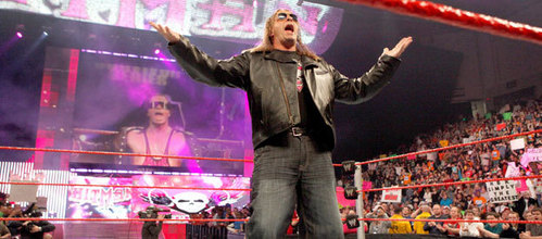 Which year did Bret Hart win a Slammy Award for Best Music Video?