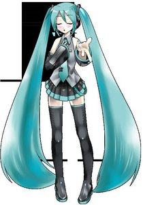 The data for the voice of Hatsune Miku was created by sampling the voice of which voice actress?