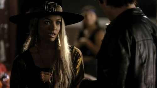 What is the last word Bonnie says to Damon in 1x07?