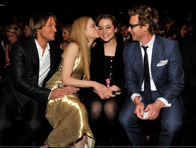 Nicole Kidman is godmother to which child of Simon Baker (The Mentalist) & his wife Rebecca Rigg?