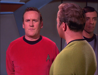 In Trials and Tibble-ations, who is the extra O'Brien mistakes for Kirk?