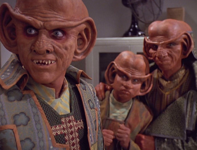 Where on Earth did Quark, Rom and Nog end up when they travelled back in time to 1947?