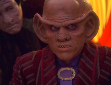 What happens to Quark in the episode Profit and Lace?