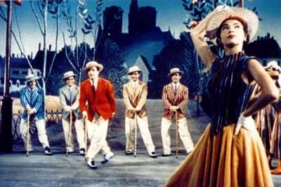 """which color is gene kelly in """"an american in paris""""(1951) ? (with leslie caron)"""