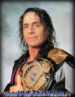 How many times did Bret Hart become a WWE champion?