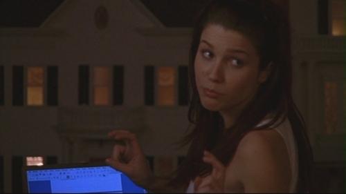 T/F: She's talking to Lucas?