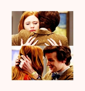 In which episode did the doctor and amy have their first hug?