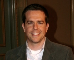 True or False: Ed Helms did the whole Rockin Robin song himself on his computer for Andy's phone?