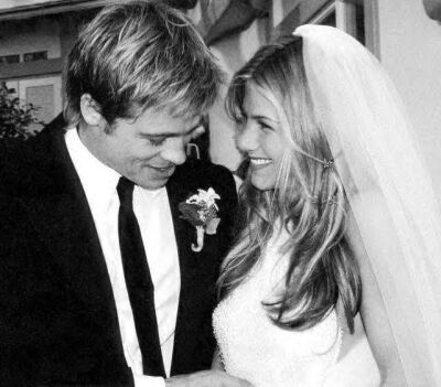 What año did Brad and Jen marry?