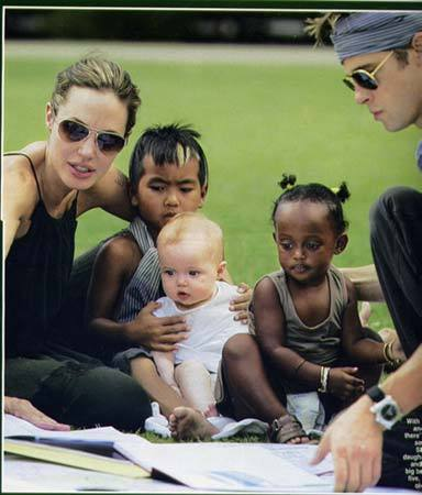 As of July 2010, how many children do Brangelina have?