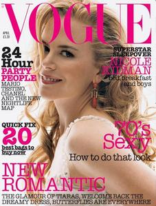 Nicole has appeared on the cover of Vogue over ___ times.
