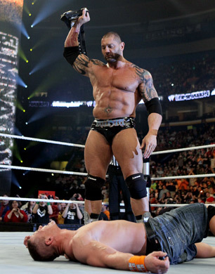How many time did batista became  WWE Championship ??
