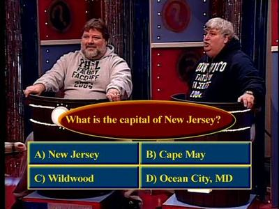 Fatboy Game Show:  What is the capital of New Jersey?