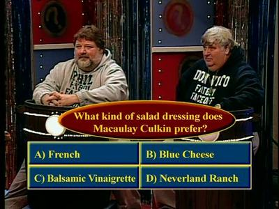 Fatboy Game Show:  What kind of salad dressing does Macaulay Culkin prefer?