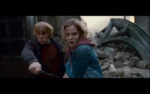 'Oi! There's a war going on here' Who berkata this in the book deathly hallows