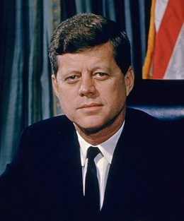 How old was Ted Kennedy when John F. Kennedy died?