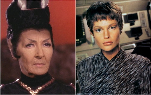 "T/F: T'Pol from ""Star Trek: Enterprise"" was originally intended to be a younger version of T'Pau from ""Amok Time""?"
