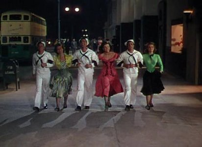 on the town(1949), what color of vera-ellen ?