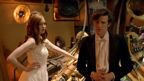 Did Amy want to baciare the doctor again on her wedding day?