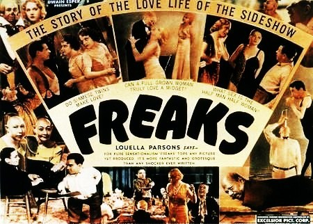 """What did the big name stars at MGM object to doing with the cast of """"Freaks"""" ?"""
