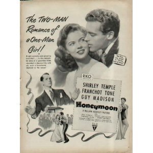 in honeymoon, whom to married to barbara olmstedt(shirley temple) ?