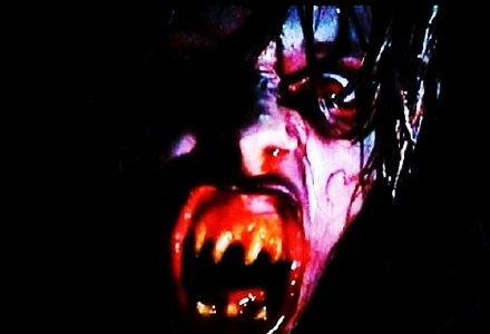 "In ""Demons"" (1985) who has their eyes gouged out ?"