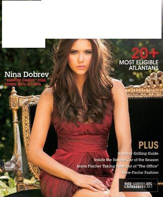 What magazine is Nina on in this cover?