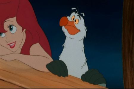 Ariel: Oh - he's very handsome, isn't he? Scuttle: I dunno, he looks kinda ___ and ___ to me.