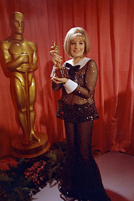 True or False: Barbra had to share her Oscar for 'Funny Girl' with Katharine Hepburn