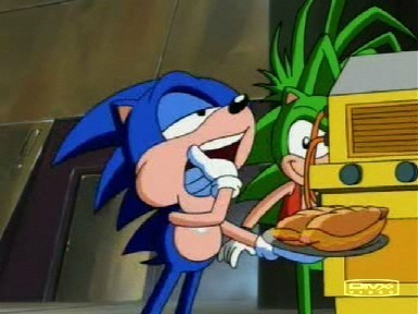 What's Sonic's paborito food?