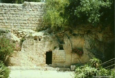 where is jesus's cross/tomb in ?