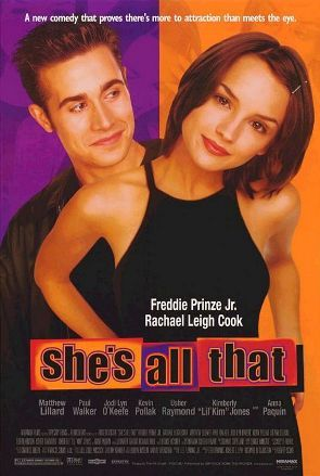 "In the movie ""She's all that"", he played ?"