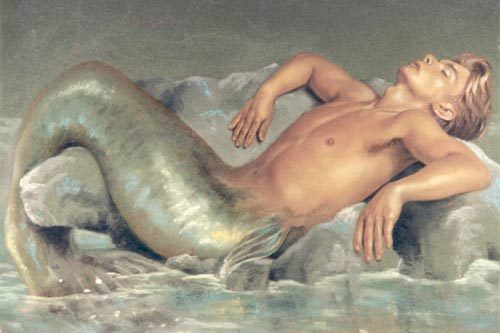 True atau False: The very first mermaid was a man?