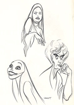 This is concept art for which disney princess villain?
