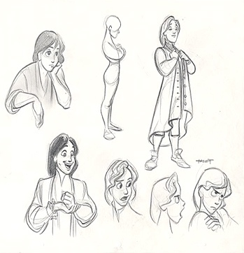 This is concept art of which disney princess movie prince?