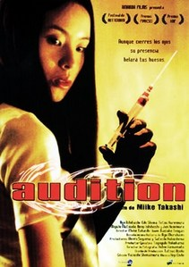 "In ""Audition"" what does the young woman remove from her gentleman admirer ?"