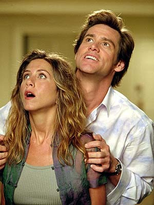 With Jim Carrey by her side, the two went hand in hand while he looked after the world in which film?