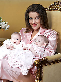 What are the names of Lisa Marie's twins?