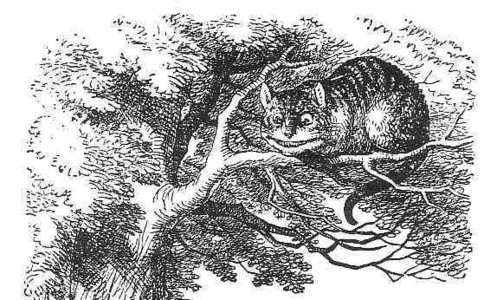 How many pictures with Cheshire Cat were in 'original' version of Alice in Wonderland?
